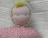 Isadora the Waldorf style organic cotton baby doll for baby