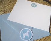 Design Your Own - Dog Silhouette Note Cards (Set of 12)