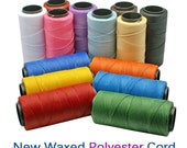 Multi-Color Mix: Waxed, Polyester Cord, 1mm for Macrame / 6 packs of 25ft / Hilo Encerado, Waxed Poly, Cording, Thread, Jewelry Supplies