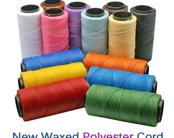 Multi Color Mix: Waxed Polyester Cord, 1mm, 6 packs of 25ft per color / Hilo Encerado, Waxed Poly, Macrame Thread / Jewelry Supplies