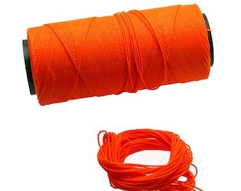 Neon Citrus: Waxed Polyester Cord, ~1mm Macrame Cord, pack of 25ft (8.33 yards) / Hilo Encerado, Linha Encerada, Waxed Polyester Thread