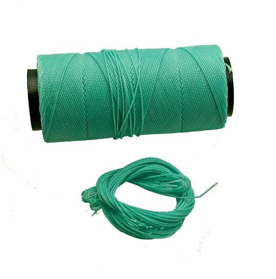 Light Jade: Waxed Polyester Cord, ~1mm Macrame Cord, pack of 25ft (8.33 yards) / Hilo Encerado, Linha Encerada, Waxed Polyester Thread