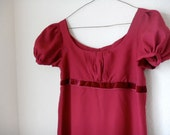 Regency Day Dress - Burgundy