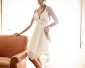 Elyse - Wedding Dress Couture Eco-friendly Detachable skirt Silk