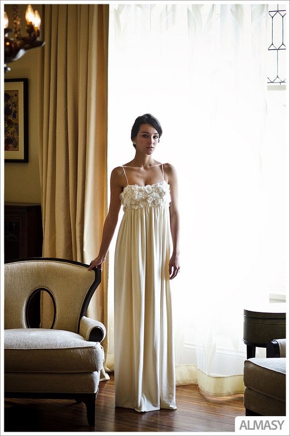 Lauren wedding dress eco friendly organic bamboo cotton for Organic cotton wedding dress