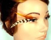 Handmade Feather Eyelashes, Tiger Elf