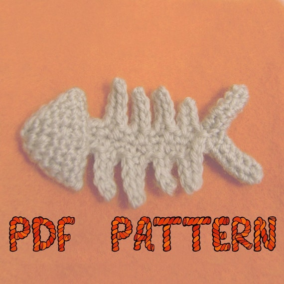 fish skeleton catnip toy PDF CROCHET PATTERN by yumyumyarn on Etsy