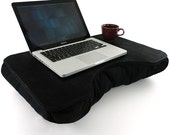 Large Black Canvas Cotton Lap Desk