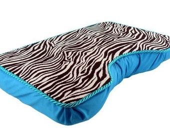 Large Turquoise Zebra Lap Desk
