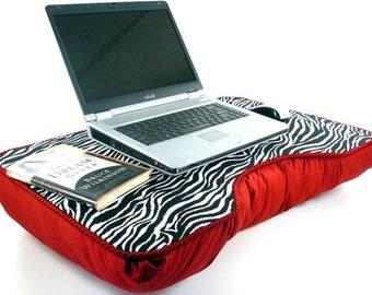 Jumbo Red Zebra Laptop Lap Desk