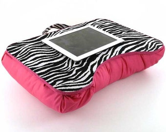 Medium Hot Pink Zebra Kids Lap Desk
