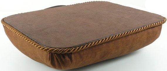 Small Brown Faux Leather Portable Lap Desk