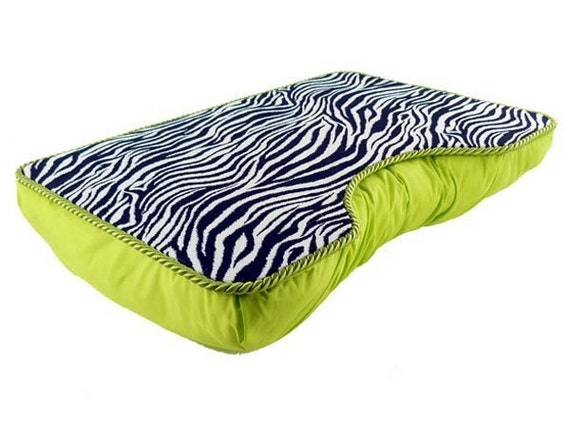 Large Lime Green Zebra LapDesk