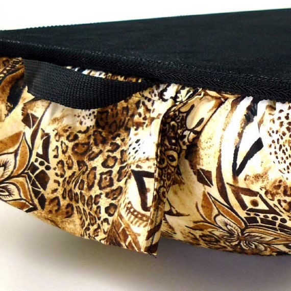 Jumbo African Jungle Lap Desk with Pockets