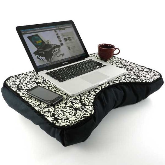 Large Damask Lap Desk with Two Pockets
