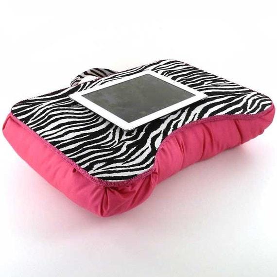 Medium Hot Pink Zebra Kids Lap Desk