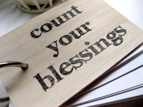 3 in. x 2 in. Wood Mini Notepad - Count Your Blessings
