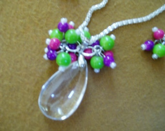 Spring Blossoms.......necklace and earring set