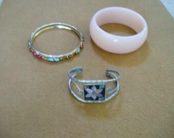 3 Vintage  Bracelet  lot.