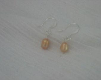 Little peach freshwater pearl earrings.....