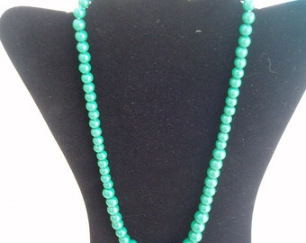 Green  Beaded Necklace and earrings set