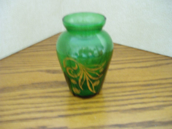 Emerald Green Glass Vase