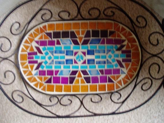 Mosaic wrought Iron  /basket