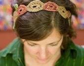 Crochet Circle Design Headband FOR SCARLET BEAUTIFUL