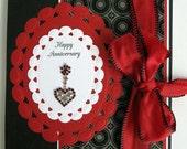 Elegant handmade Anniversary card