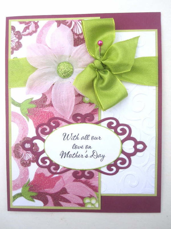 Elegant mother 39 s day card lime green pink by for Classy mothers day cards