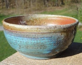 Wood-Fired Turquoise Bowl III on sale