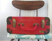 Retro Bright Red Rollerskate Case