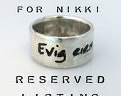 Custom Ibsen ring - Reserved for Nikki