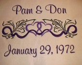 Personalized Embroidered Woven Wedding Throw Blanket
