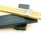 Before Calculators ... Vintage Wooden Slide Rule