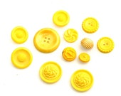 Yellow . . . Bright Vintage Buttons