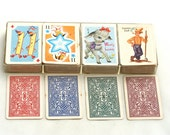 Four Teeny Games for Back to School . . . Vintage Whitman Cards, Vintage Rummy, Vintage Old Maid