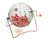 B 7 . . . Vintage Bingo Cage With Call Numbers