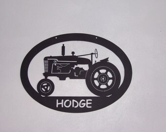 Custom Metal Tractor Sign