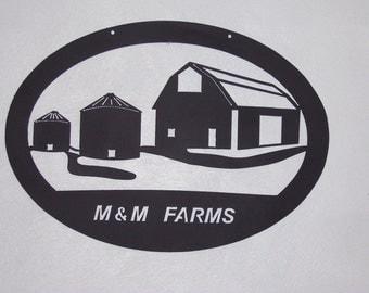 Metal Farm Sign, custom metal farm sign, metal sign, metal welcome sign, farm sign