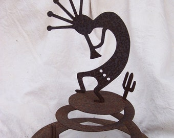 Kokopelli Wind Dancer, kokopelli garden sculpture, kokopelli yard art, kokopelli garden art