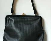 RESERVED FOR silviawan Vintage Black Granny Handbag