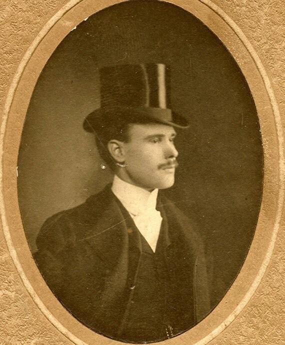 Top Hatted Gentleman Cabinet Photo