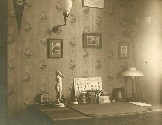 Interior Still Life Writer's Desk Cabinet Photo