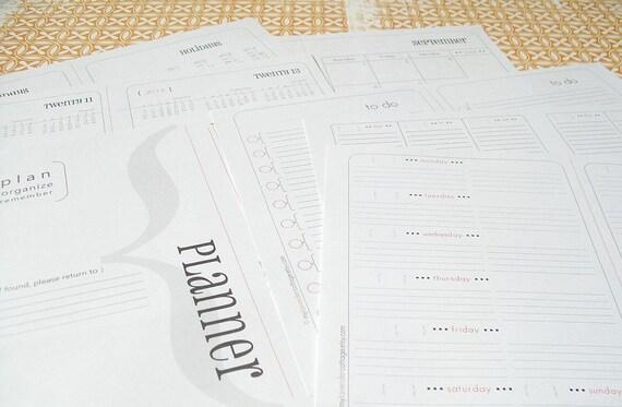 printable pdf A5 half letter size ( PLANNER & ORGANIZER )