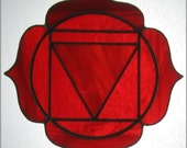Red Root Chakra Stained Glass Suncatcher