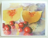 Cantaloupe and Cherries Notecard - Set of 4