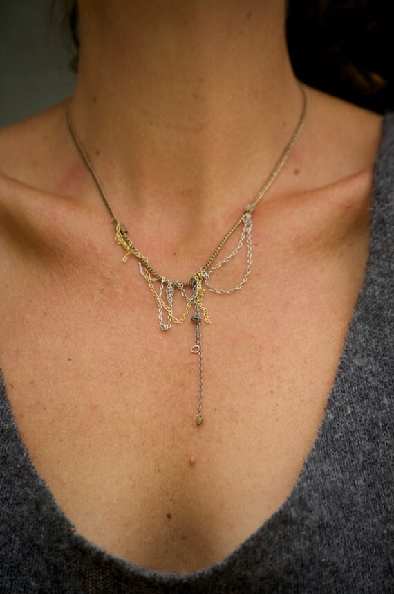 S A L E:  mixed & twisted chain necklace
