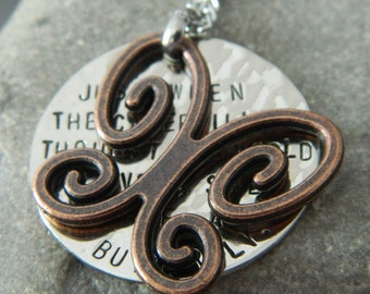 Butterfly Quote Necklace with Red Copper Butterfly