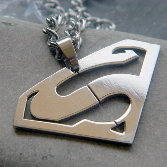 Superman Necklace Men's Stainless Steel
